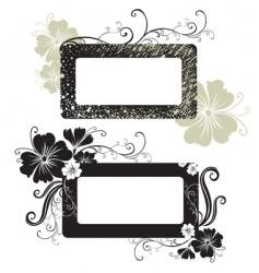 two floral vintage frame vector image vector image