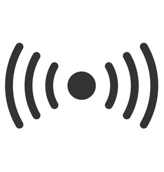 Wi-fi point flat icon vector