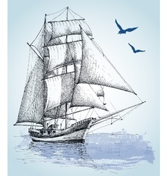 Boat drawing sailboat sketch vector