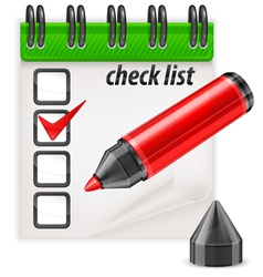 check list pen notepad vector image