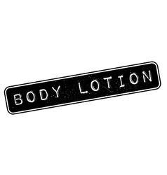 Body lotion rubber stamp vector