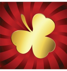 Golden lucky clover vector