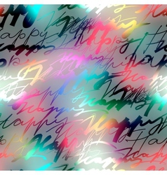Inscriptions of word happy on blur background vector