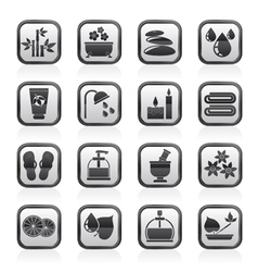 Spa and relax objects icons vector