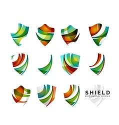 Set of protection shield logo concepts vector