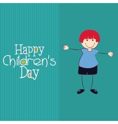 Happy childrens day vector