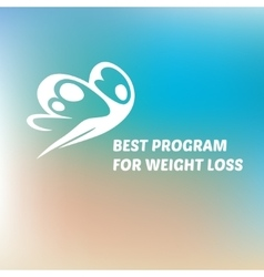 Logo special weight loss effective program vector