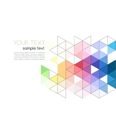 Abstract background color triangle vector