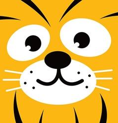 Square tiger face icon button vector