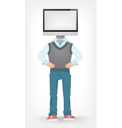 Computer guy vector