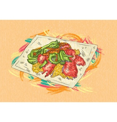 Cooked food vector