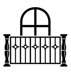 Apartment balcony icon simple style vector