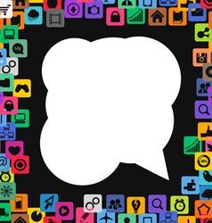 App Icons Border vector image vector image