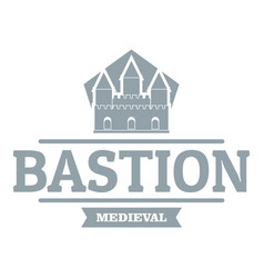 Bastion medieval logo simple gray style vector