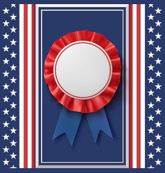 blank badge patriotic award ribbon on abstract vector image vector image