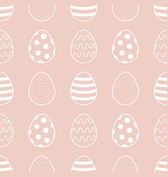 Easter eggs seamless pattern background vector