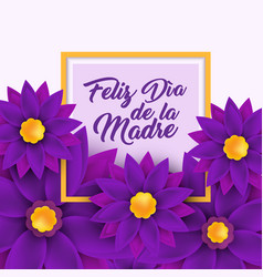 Feliz dia de la madre happy mother s day in vector