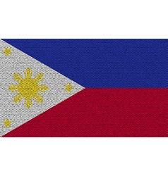 Flags philippiines on denim texture vector