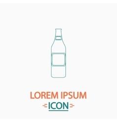 Glass Beer computer symbol vector image