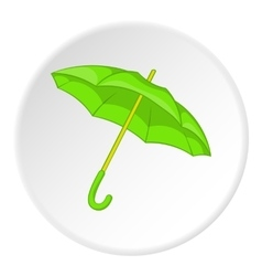Green umbrella icon cartoon style vector image
