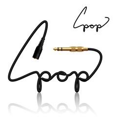Jack connectors pop calligraphy vector