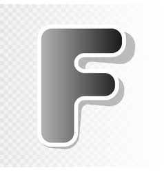 letter f sign design template element new vector image vector image