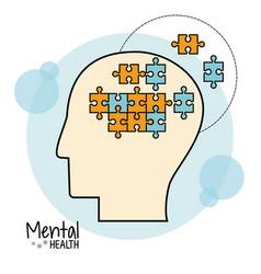 mental health brain puzzle image vector image