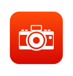 Photocamera icon digital red vector