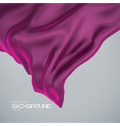 Purple silk fabric vector image