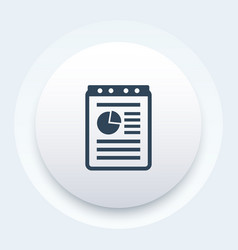 Report document record icon vector