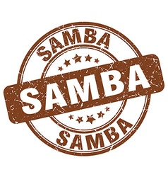 Samba brown grunge round vintage rubber stamp vector