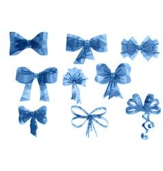 set of triangular ribbon vector image