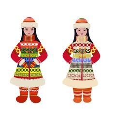 traditional costume vector image vector image