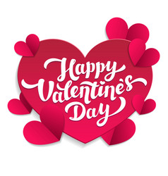 valentine s day paper cut card 14th of february vector image vector image