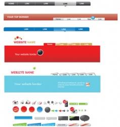 web menus vector image vector image