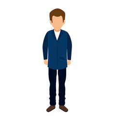 Young man casual avatar vector