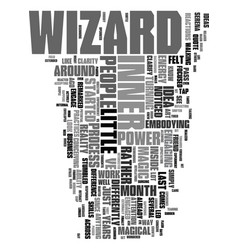Your inner wizard text word cloud concept vector