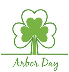 Abor Day Background with Clovers vector image