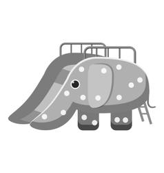 Childrens slide elephant icon vector