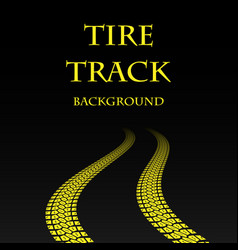 Yellow warp tire track vector