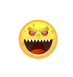 yellow smiling face angry negative people emotion vector image