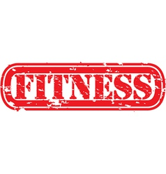 Fitness stamp vector