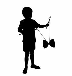 Child shade with a diabolo vector