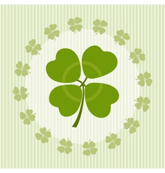 Clover with four leaves on luck vector
