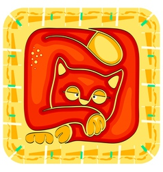 Year of the cat chinese horoscope animal sign vector