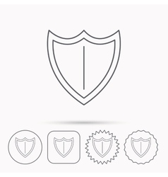 Shield icon protection sign vector