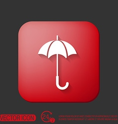 Umbrella icon protection from rain and moisture vector
