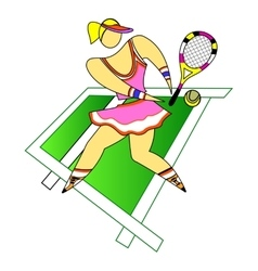 Girl tennis player vector