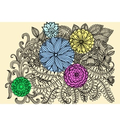 Vintage doodle vector image