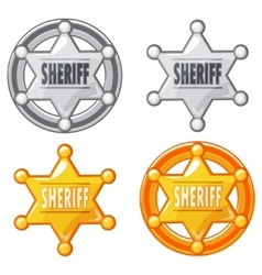 Sheriff Marshal Star Gold and silver Medal vector image